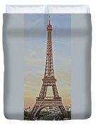 The Many Faces Of The Eiffel Tower In Paris France Duvet Cover