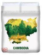 The Map Of Cambodia 2 Duvet Cover