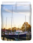 The Marina At St Michael's Maryland Duvet Cover by Bill Cannon