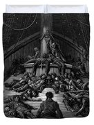 The Mariner Gazes On His Dead Companions And Laments The Curse Of His Survival While All His Fellow  Duvet Cover by Gustave Dore