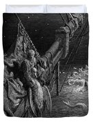The Mariner Gazes On The Serpents In The Ocean Duvet Cover by Gustave Dore