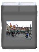 The Markt Bruges Belgium Duvet Cover