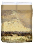 The Marsh In The Souterraine, 1842 Duvet Cover by Theodore Rousseau