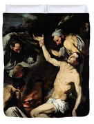 The Martyrdom Of Saint Lawrence Duvet Cover by Jusepe de Ribera
