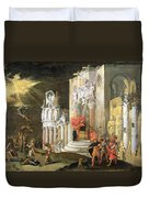 The Martyrdom Of St. Catherine, 17th Duvet Cover