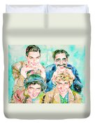 The Marx Brothers / Watercolor Painting Duvet Cover