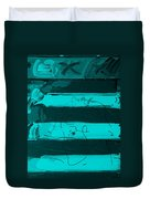 The Max Face In Turquois Duvet Cover