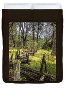 The Meadow Fence Duvet Cover