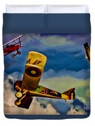 The Mean French Skies Duvet Cover