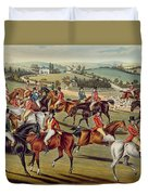'the Meet' Plate I From 'fox Hunting' Duvet Cover