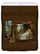 The Meeting Of Antony And Cleopatra  41 Bc Duvet Cover