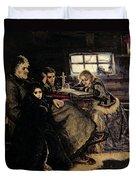 The Menshikov Family In Beriozovo, 1883 Oil On Canvas Duvet Cover