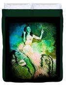 The Mermaid Mirror Duvet Cover