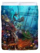 The Mermaids Treasure Duvet Cover
