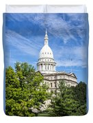 The Michigan Capitol Building Duvet Cover