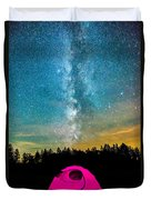 The Midnight Camper Pink Tent Duvet Cover
