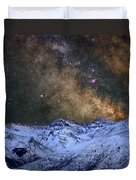 The Milky Way Over The High Mountains Duvet Cover