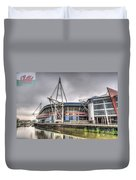The Millennium Stadium With Flag Duvet Cover