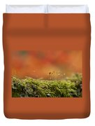 The Miniature World Of Moss  Duvet Cover by Anne Gilbert