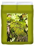 The Miniature World Of The Moss Duvet Cover