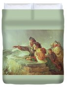 The Missing Boat, C.1876 Duvet Cover