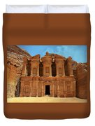 The Monastery At Petra Duvet Cover