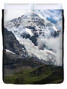 The Monk - Swiss Bernese Alps Duvet Cover