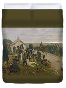 The Morning Of The Battle Of Waterloo Duvet Cover