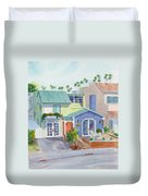 The Most Colorful Home In Belmont Shore Duvet Cover