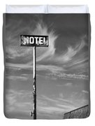 The Motel Bw Palm Springs Duvet Cover