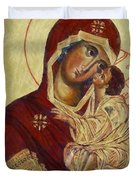 The Mother Of God -the Don Icon Duvet Cover