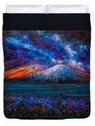 The Mountain Of Memories Duvet Cover