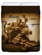 The Mummy Rides In Halifax Duvet Cover