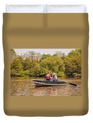The Music Never Ends - Central Park Pond - Nyc Duvet Cover