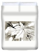 The Mysterious Leaf Abstract Bw Duvet Cover by Andee Design