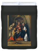 The Mystic Marriage Of St Catherine Duvet Cover