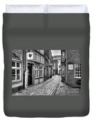 The Narrow Cobblestone Street Duvet Cover