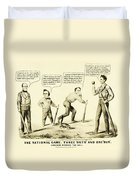 The National Game - Abraham Lincoln Plays Baseball Duvet Cover