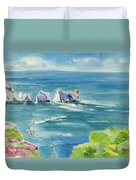 The Needles Isle Of Wight Duvet Cover