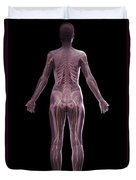 The Nervous And Skeletal Systems Female Duvet Cover