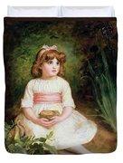 The Nest Oil On Canvas Duvet Cover