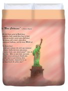 The New Colossus Duvet Cover