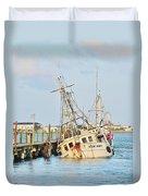The New Hope Sunken Ship - Ocean City Maryland Duvet Cover