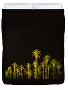 The Night Sky Over Death Valley Duvet Cover