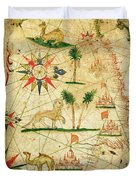 The North Coast Of Africa, From A Nautical Atlas, 1651 Ink On Vellum Duvet Cover