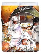 The Nuns Of Toledo 02 Duvet Cover