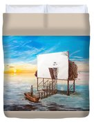 The Occult Listen With Music Of The Description Box Duvet Cover by Lazaro Hurtado