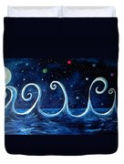 The Ocean, The Moon And The Stars Duvet Cover