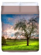 The Old Apple Tree At Dawn Duvet Cover