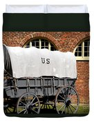 The Old Army Wagon Duvet Cover